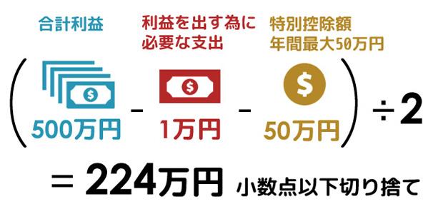オンラインカジノ課税対象額の計算方法