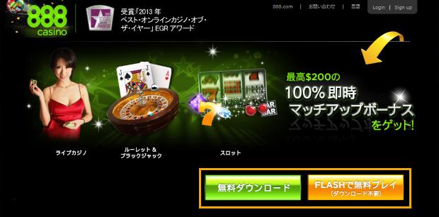 888カジノ(888Casino)のアカウント(口座)開設手順